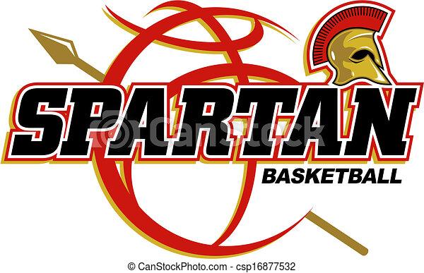 spartan basketball design - csp16877532