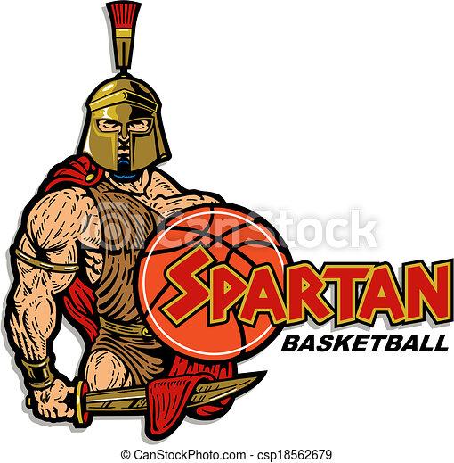spartan basketball design - csp18562679