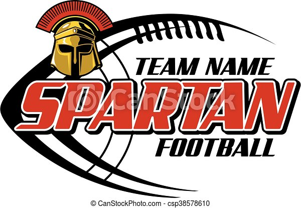 spartan football team design with helmet and laces for vector rh canstockphoto com clipart spartan helmet spartan clipart free