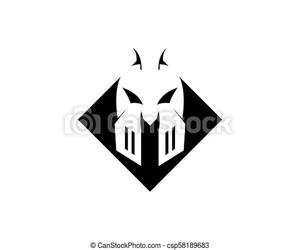 spartan helmet logo and symbols template vector icon spartan helmet