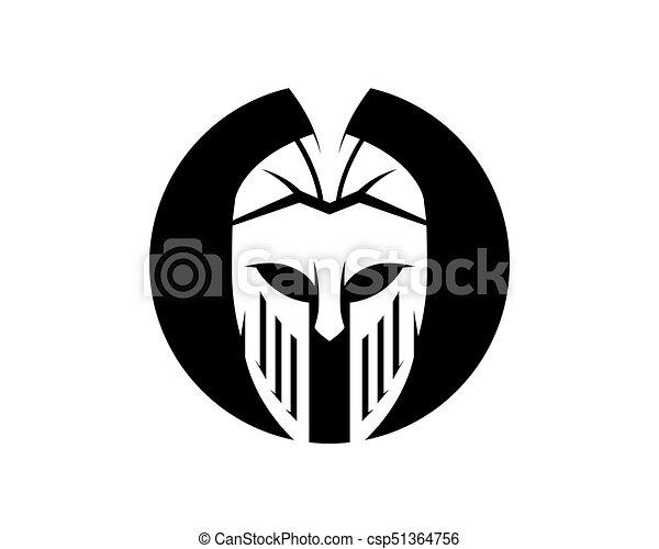 afc4dfec15f2b Vector sign. spartan helmet logo template vector icon design.
