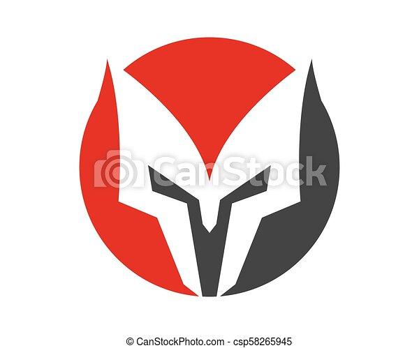 spartan helmet vector icon spartan helmet logo template vector icon