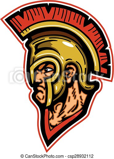 spartan mascot head wearing helmet with crest vector clip art rh canstockphoto com spartan clipart free clipart spartan shield