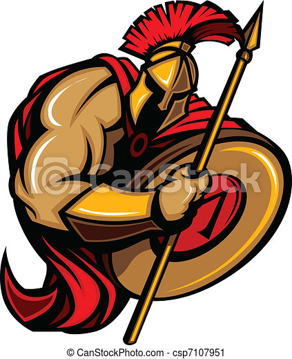 spartan trojan mascot cartoon with cartoon graphic of a vector rh canstockphoto com spartan clipart free spartan logo clip art