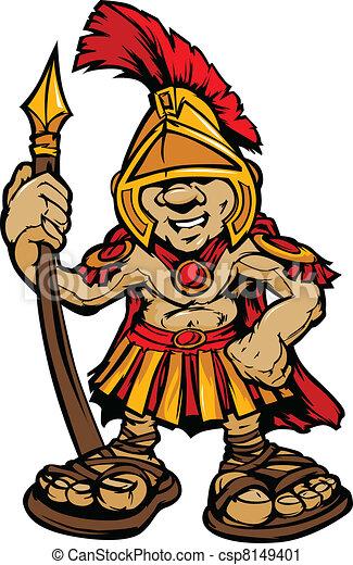 spartan trojan mascot vector cartoo cartoon graphic of a vector rh canstockphoto com trojan clipart free clipart trojan head