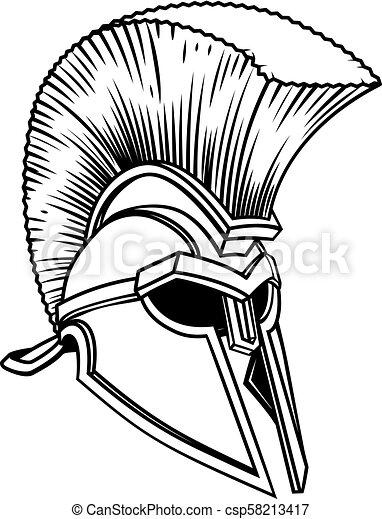 Spartan Trojan Roman Gladiator Helmet An Ancient Greek Spartan