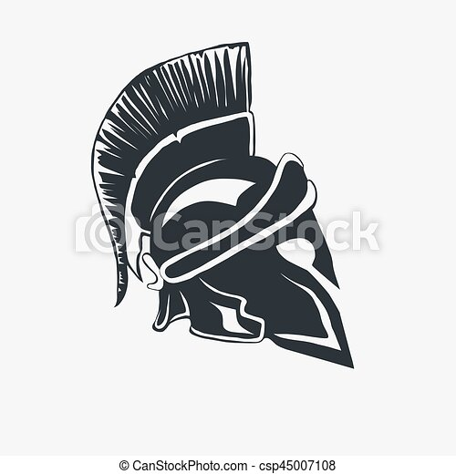Spartan Warrior Helmet Spartan Helmet Logo Greek Warrior