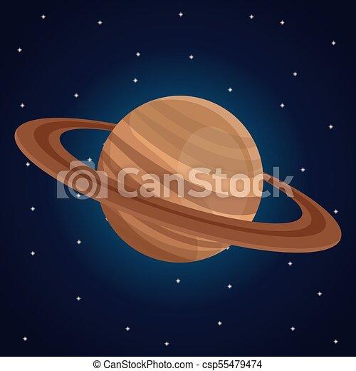 Spazio Colorare Pianeta Fondo Saturno Paesaggio Vista Spazio