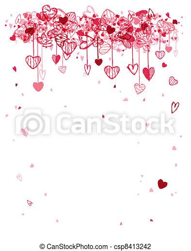 spazio, testo, cornice, valentina, disegno, tuo - csp8413242