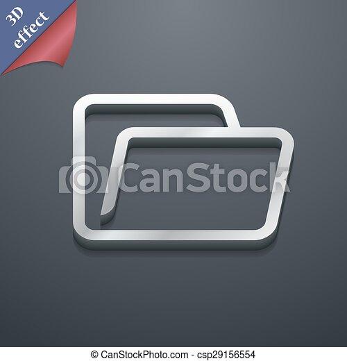 spazio, testo, moderno, simbolo., style., trendy, vettore, disegno, cartella, 3d, tuo, icona - csp29156554
