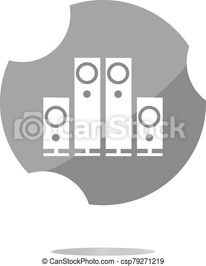 Speaker. Button. icon isolated on white background - csp79271219