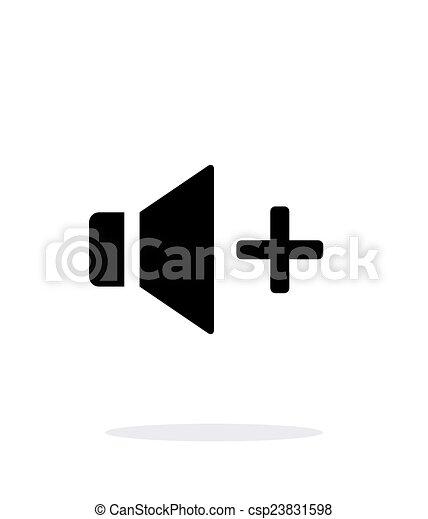 Speaker icon. Volume icon on white background. - csp23831598