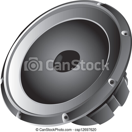 Speaker. Subwoofer vector illustration - Search Clipart ...