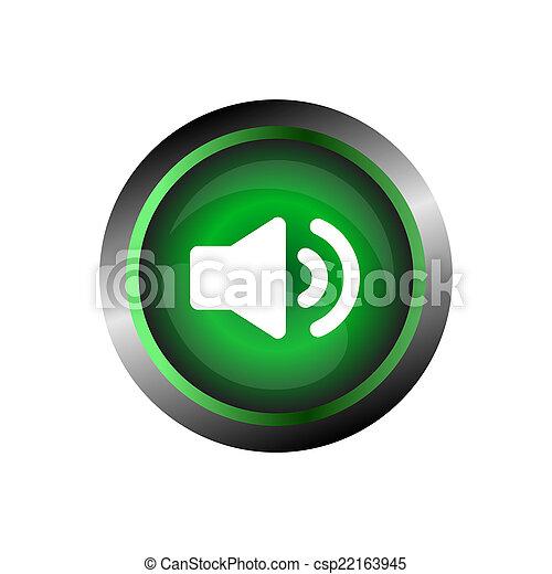 Speaker sound icon button isolated - csp22163945