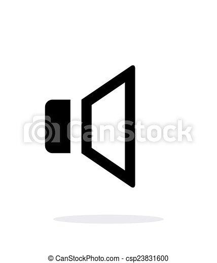 Speaker Volume icon on white background. - csp23831600