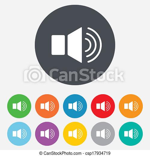 Speaker volume sign icon. Sound symbol. - csp17934719