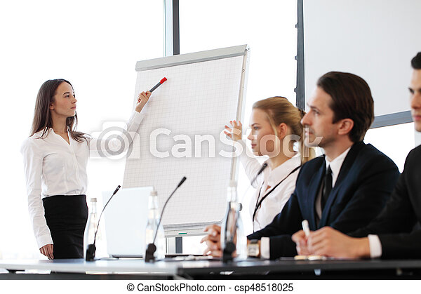 Speakers at business meeting - csp48518025
