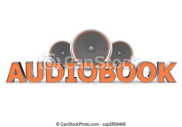 Speakers Audiobook - Orange - csp2856466