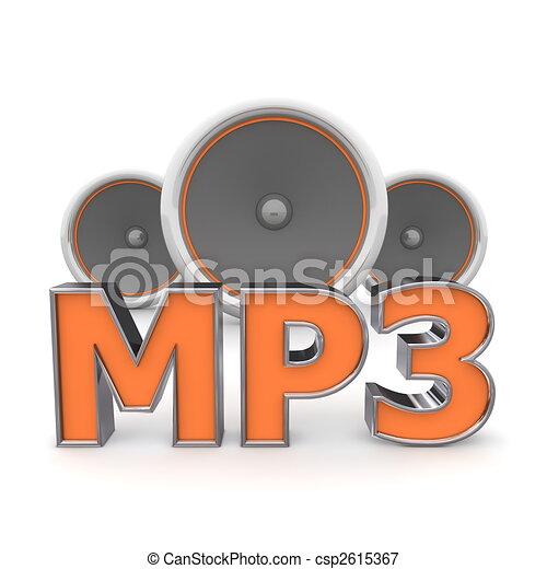 Speakers MP3 - Orange - csp2615367