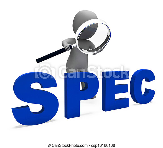 Spec character showing specifications details particulars for What does spec home mean
