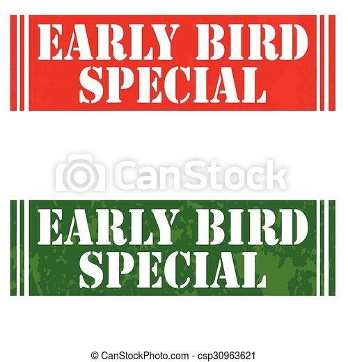 speciální, ptáček, časný - csp30963621