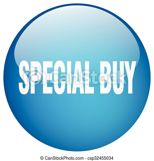 special buy blue round gel isolated push button - csp32455034