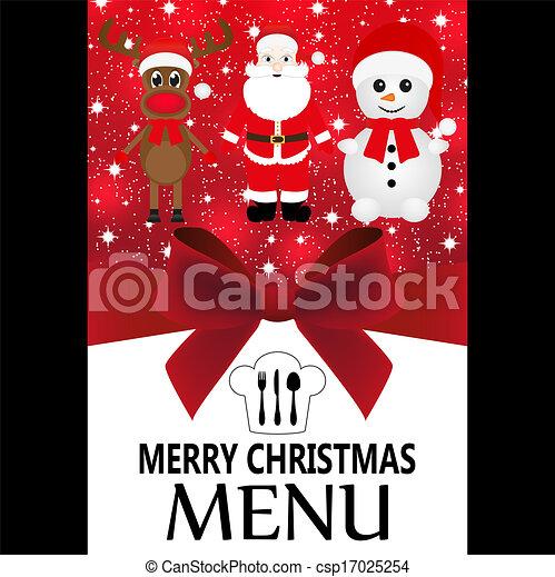 Special Christmas menu - csp17025254