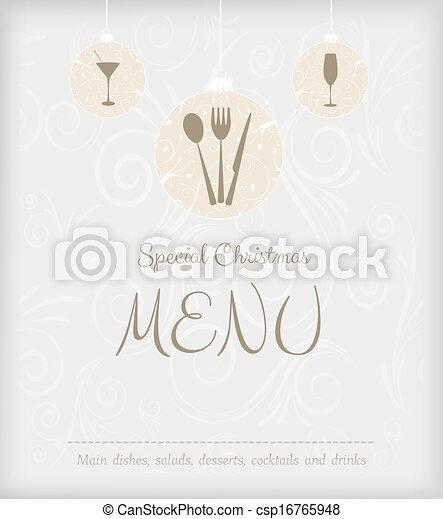 Special Christmas menu design - csp16765948