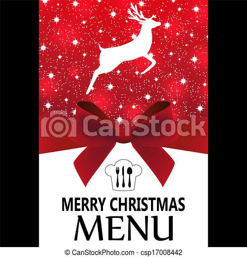 Special Christmas menu - csp17008442