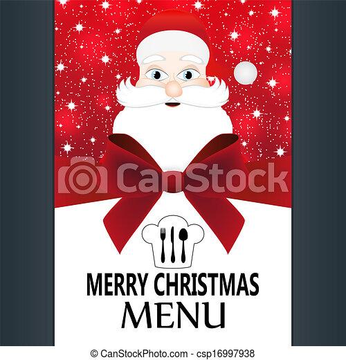 Special Christmas menu - csp16997938