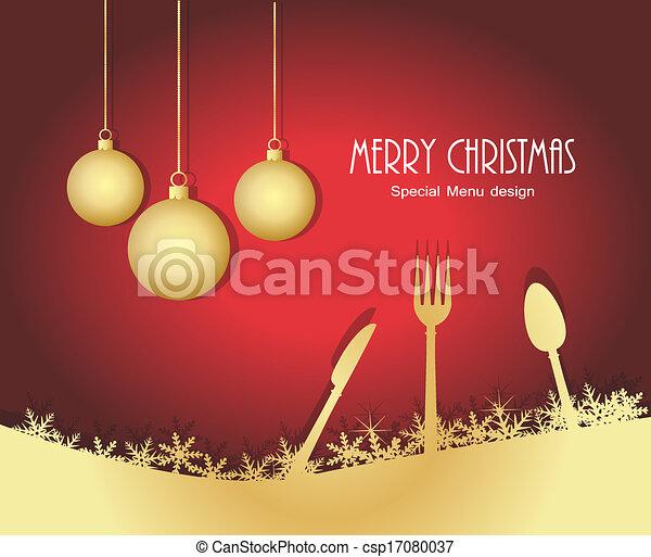 Special christmas menu - csp17080037