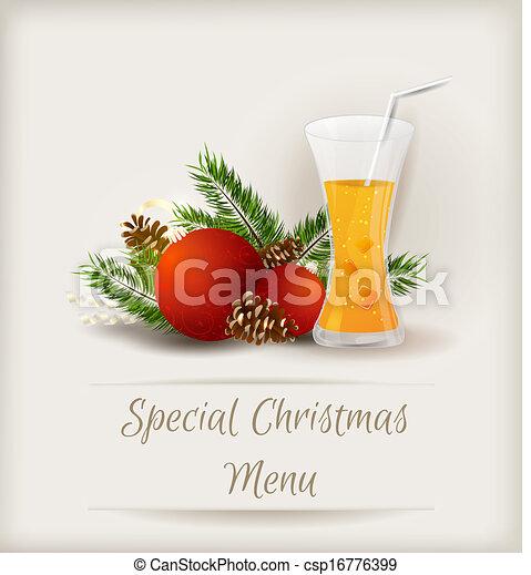 Special Christmas menu template - csp16776399