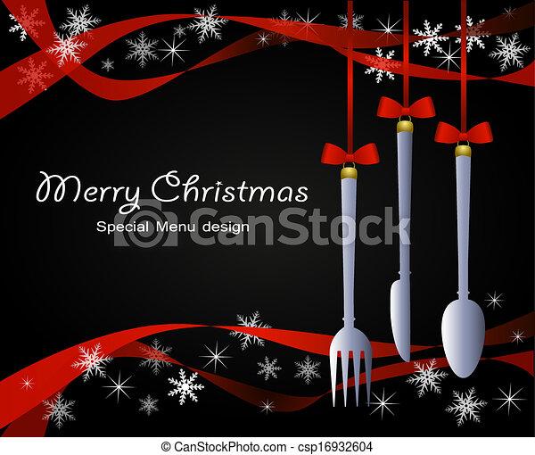 Special christmas menu - csp16932604