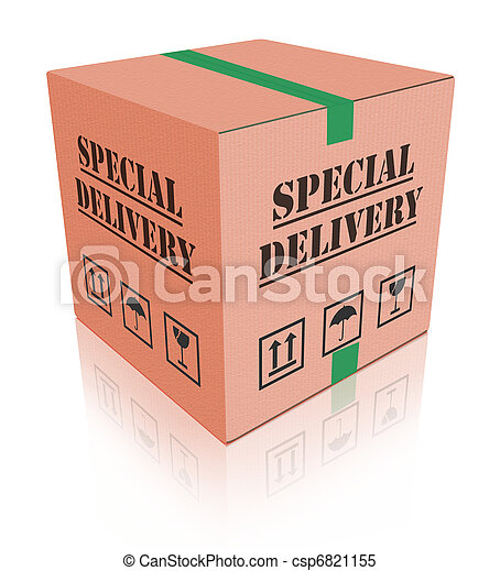 special delivery carboard box package - csp6821155