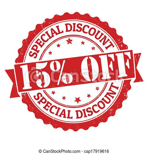 Special discount 15% off stamp - csp17919616