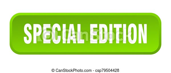special edition button. special edition square 3d push button - csp79504428