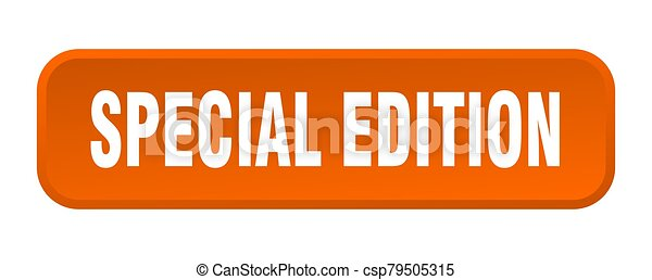 special edition button. special edition square 3d push button - csp79505315