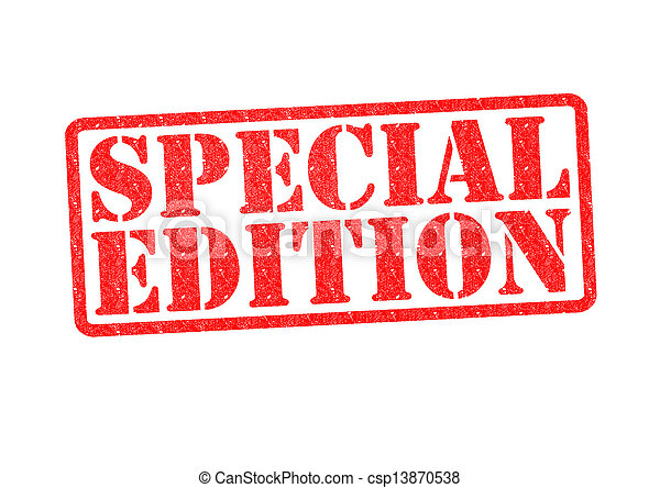 SPECIAL EDITION Rubber Stamp - csp13870538