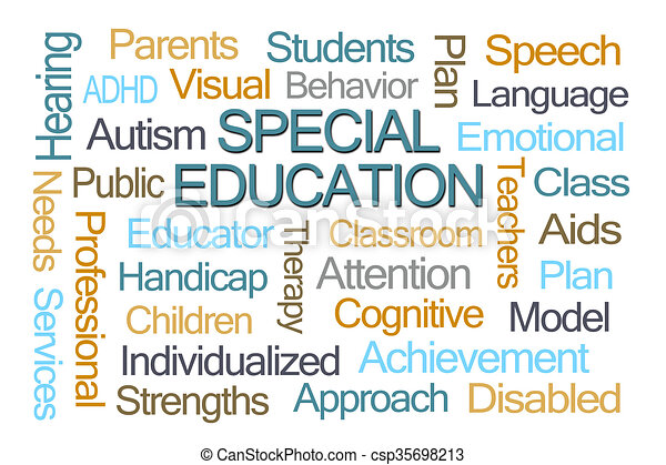 special education word cloud on white background clipart search rh canstockphoto com special education teacher clipart Early Childhood Education Clip Art