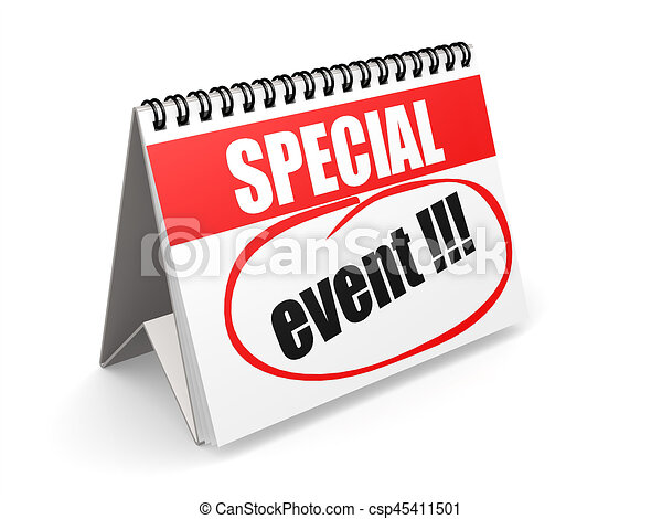 special event on red and white calendar 3d rendering stock rh canstockphoto com clipart event tent event clipart images