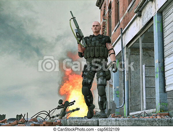 Special forces army soldier - csp5632109