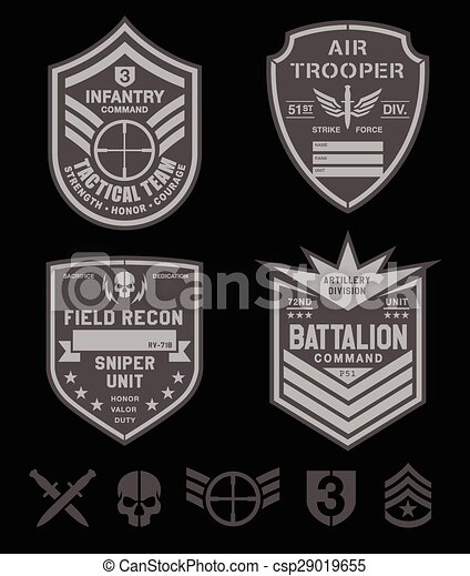 Special forces military patch set - csp29019655