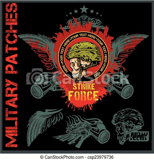 Special forces patch set - stock vector. - csp23979736