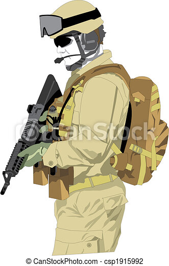 special forces soldier - csp1915992