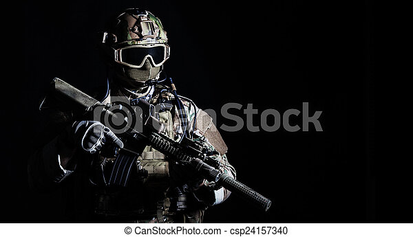 Special forces soldier - csp24157340