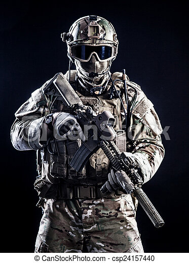 Special forces soldier - csp24157440