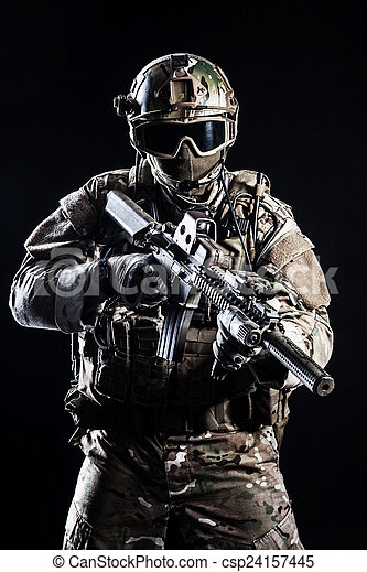 Special forces soldier - csp24157445