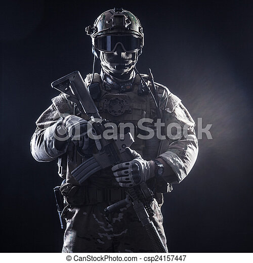 Special forces soldier - csp24157447