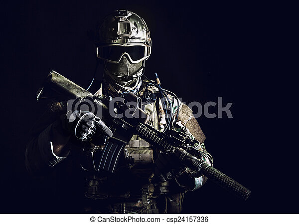 Special forces soldier - csp24157336