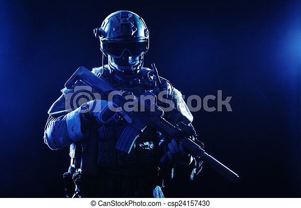Special forces soldier - csp24157430